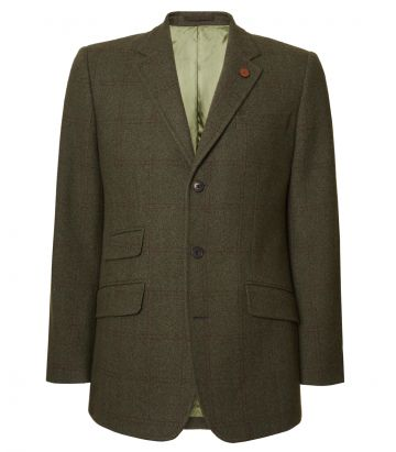 Mens Cashmere Tweed Jacket - Legerwood