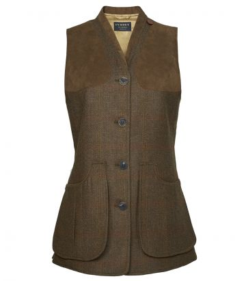 Ladies Technical Tweed Vest