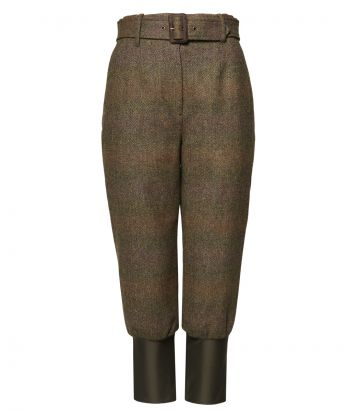 LADIES HIGH WAISTED TWEED BREEKS WITH STORM CUFF - Beatrice