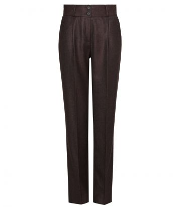 Ladies High Waisted Cashmere Trousers