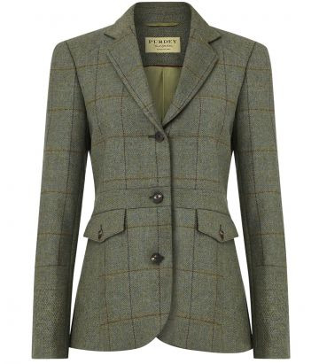 Ladies Tweed Panel Jacket - Minto