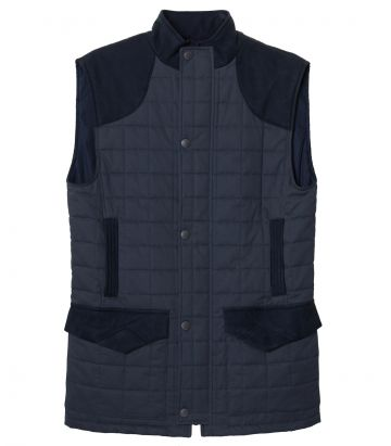 Mens Felgate Quilted Gilet - Navy