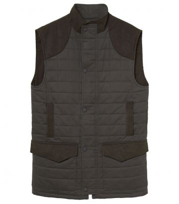 Mens Felgate Quilted Gilet - Moss Green