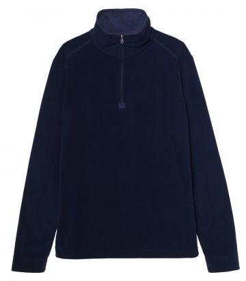 Mens Lightweight 1/4 Zip Fleece - Navy