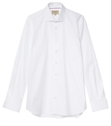 Mens Double Cuff Shirt - White