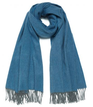Arran Cashmere Stole - Moonstone Blue