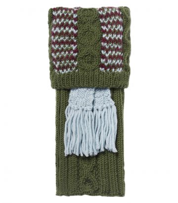 Lamorna Merino Shooting Sock - Forest Green