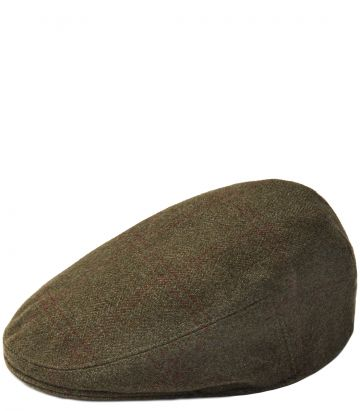 Short Peak Cashmere Tweed Cap - Legerwood