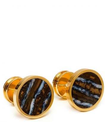 Mammoth 24ct Gold Plated Cufflinks