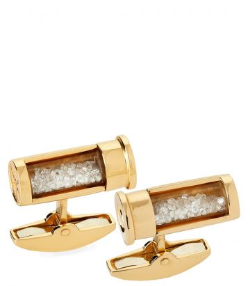 Cartridge Cufflinks with Diamonds
