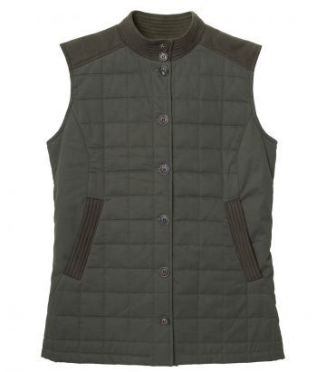 Ladies Studland Quilted Gilet - Moss Green