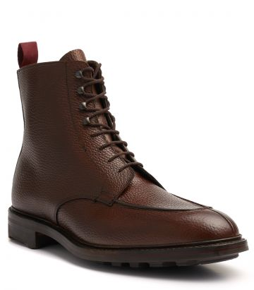 Mens Grain Leather Ridge Ankle Boot