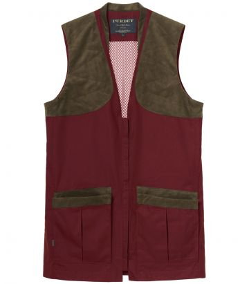 Mens Clay Shooting Vest - Audley Red