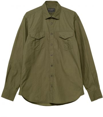 Mens Safari Shirt - Safari Green