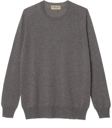 Ladies Linen Crew Neck Sweater - Elk