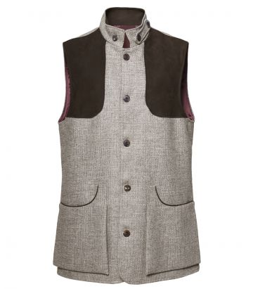Mens Herdwick Tweed High Collar Vest