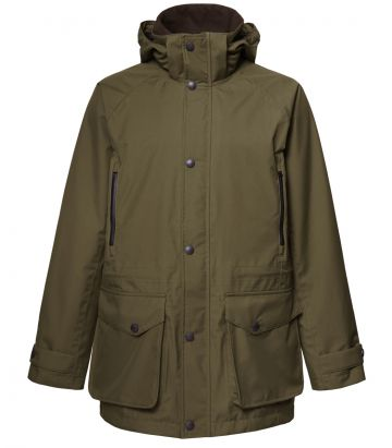 Mens Lightweight Technical Shooting Coat - Dark Olive