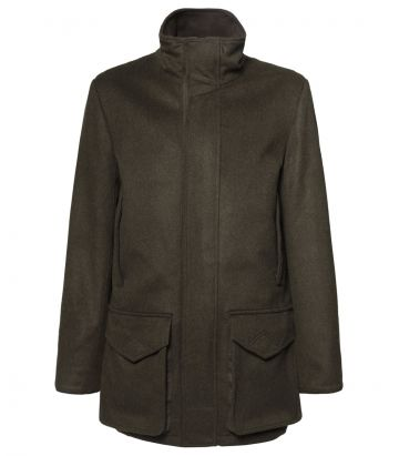 Mens Loden Field Coat - Green