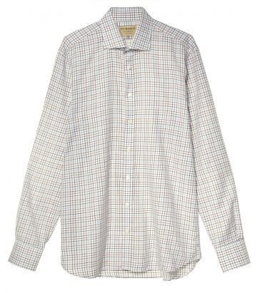 Mens Wool Blend Tattersall Shirt