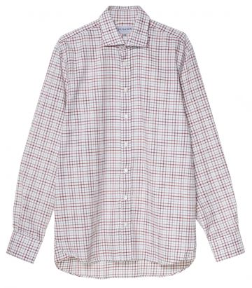 Mens Multi Check Shirt - Multi Red