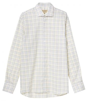 Mens Exploded Check Shirt - Gold