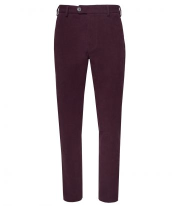 Mens Moleskin Trousers - Audley Red