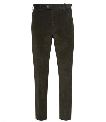 Mens Cord Trousers - Green