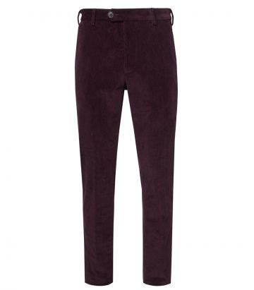Mens Cord Trousers - Audley Red