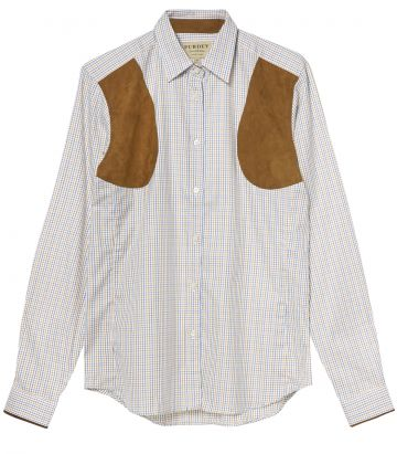 LADIES TATTERSALL PATCH SHOOTING SHIRT