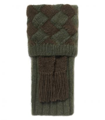 ROTARUA DIAMOND CHECK POSSUM SHOOTING SOCK - MOSS