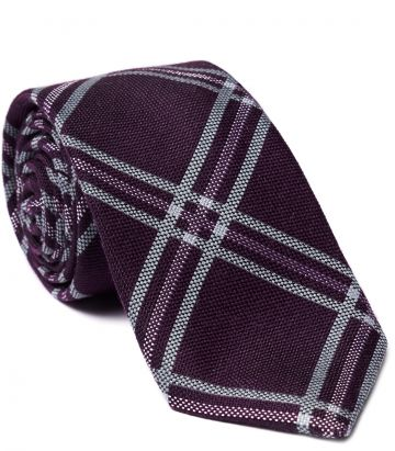 TOM PURDEY WINDOWPANE CHECK TIE