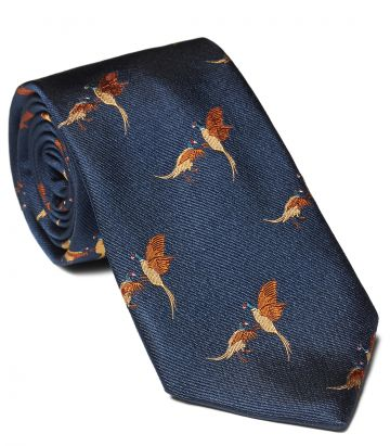 FIGHTING PHEASANTS TIE