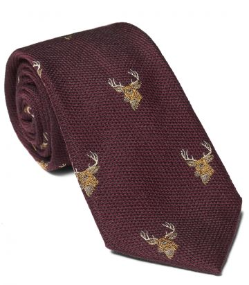 WOVEN STAG HEADS TIE