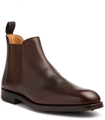 Mens Grain Leather Chelsea Boot