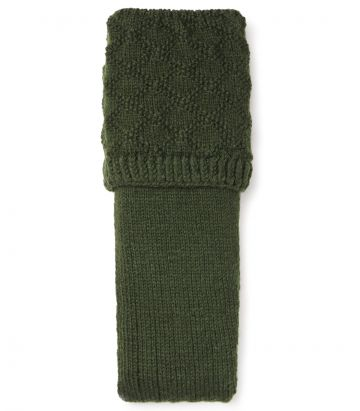 Caythorpe Handknitted Shooting Sock - Bottle Green
