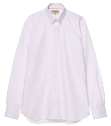Mens Oxford Stripe Shirt - Pink