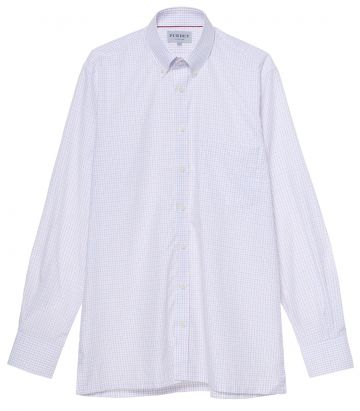 Mens Poplin Check Shirt - Red