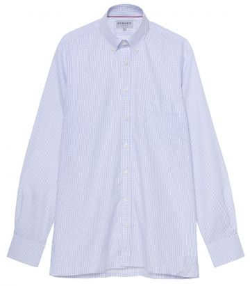 Mens Poplin Check Shirt - Pocket