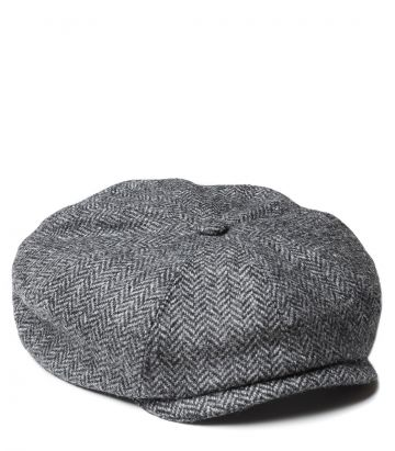Dalby Tweed Bakerboy Cap - Charcoal