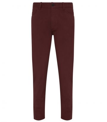 Mens Cotton Trousers - Audley Red