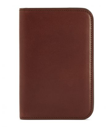 Leather Passport Holder - Havana