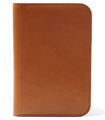 Leather Passport Holder - London Tan