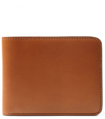 Leather Billfold Wallet - London Tan