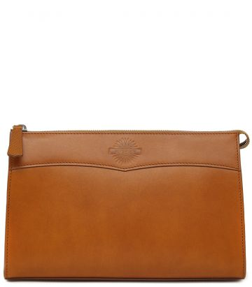 Leather Wash Bag - London Tan - Large