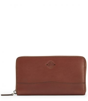 Leather Zipped Wallet