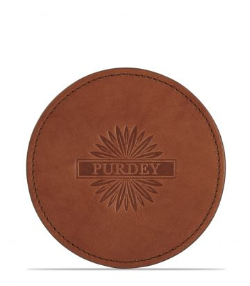 Single Leather Coaster
