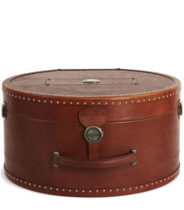 AUDLEY LEATHER HAT CASE