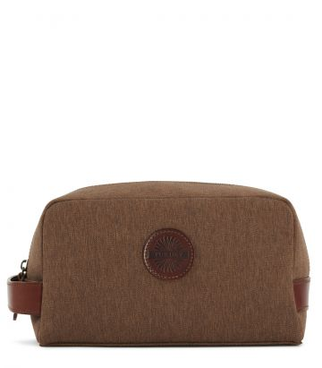Canvas & Leather Wash Bag