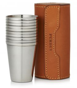 Leather Cup Set