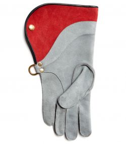 Falconry Glove - Contrast Cuff - Calf Lined - Light Grey